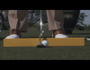 Ball alignment to stance for putting